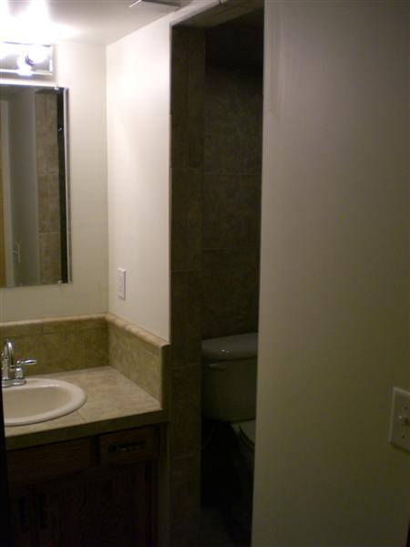 Very Small Bathroom with Walkin Shower Refinished